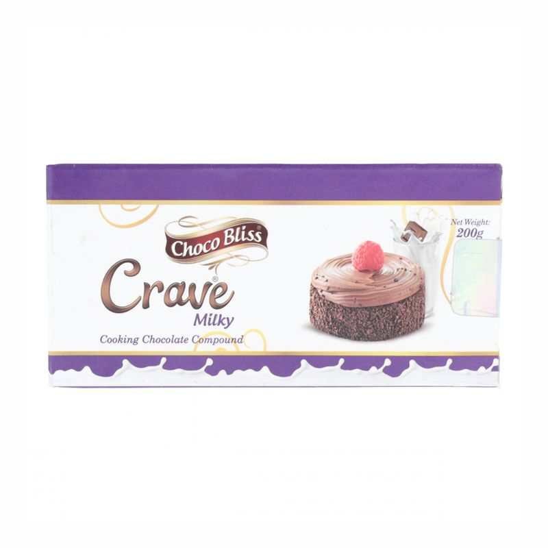 Young's Choco Bliss Crave Milky Cooking Chocolate 200gm