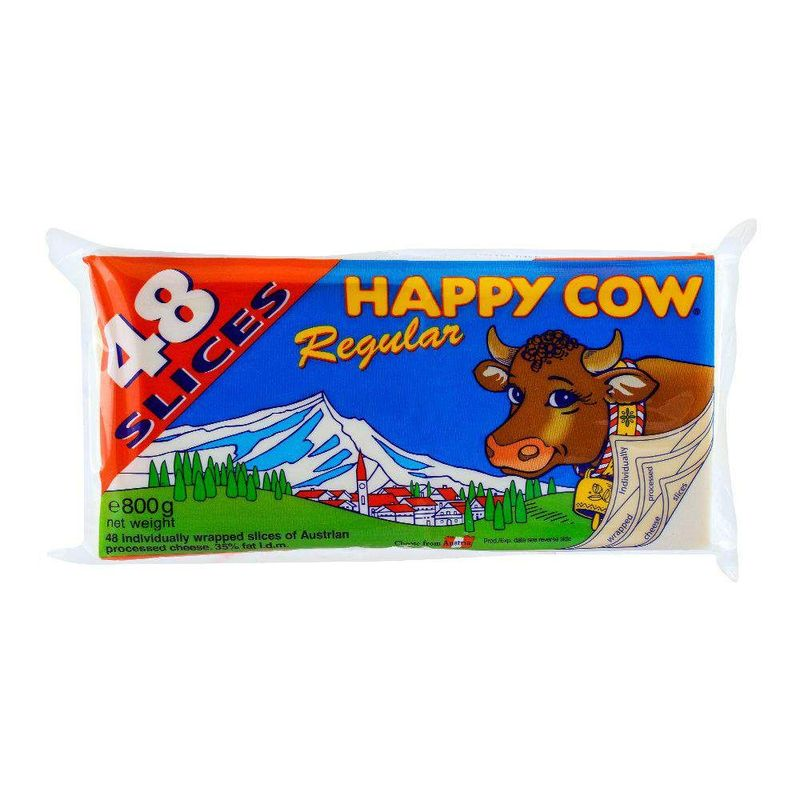 Happy Cow Regular Cheese 48 Slices 800gm