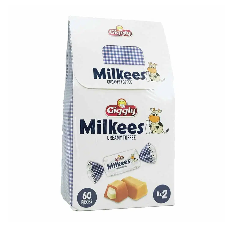 Giggly Milkees Creamy Toffee 60 Pieces