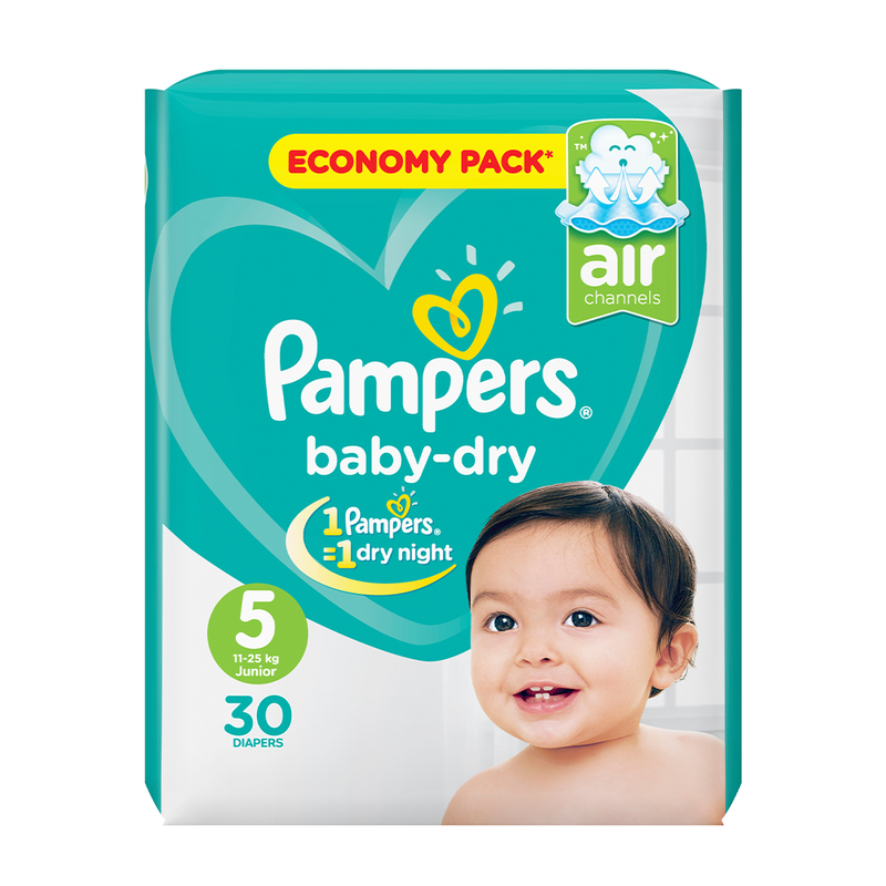 Pampers Baby Dry Diapers Extra Large Size 5 (30 Pcs)