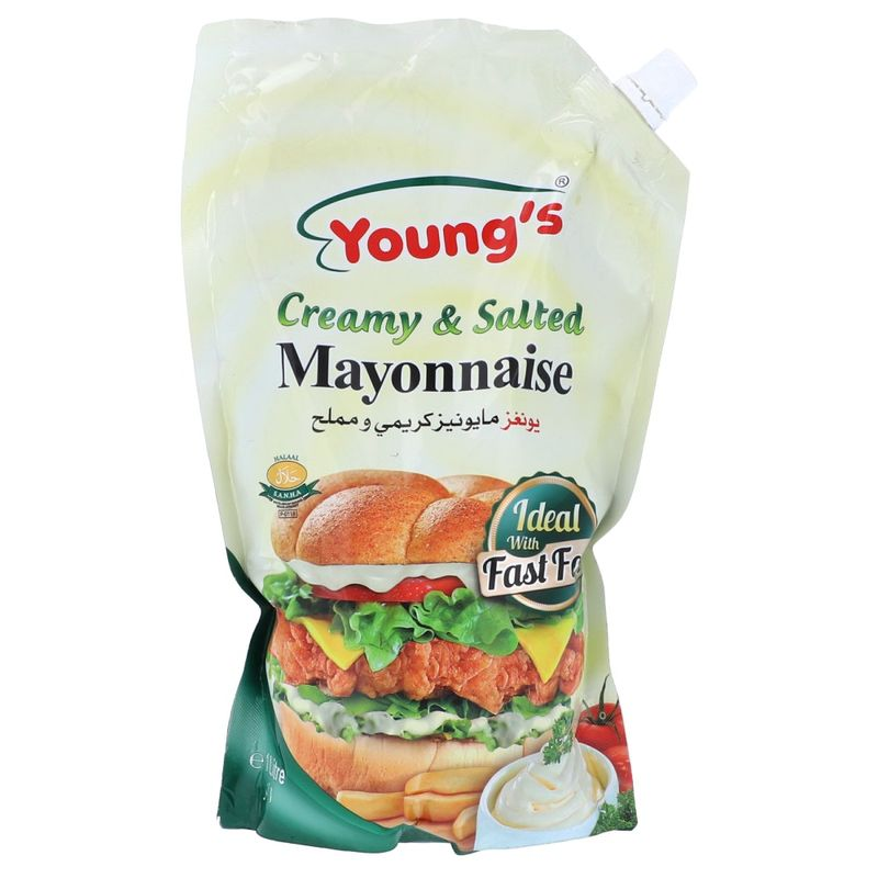 Young's Creamy & Salted Mayonnaise 1L
