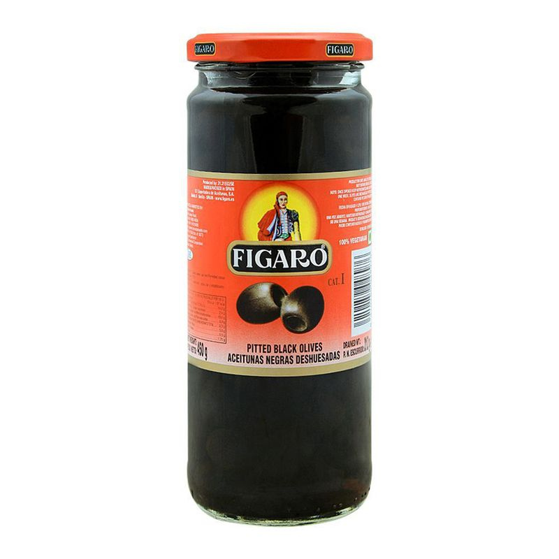 Figaro Pitted Black Olives 450gm