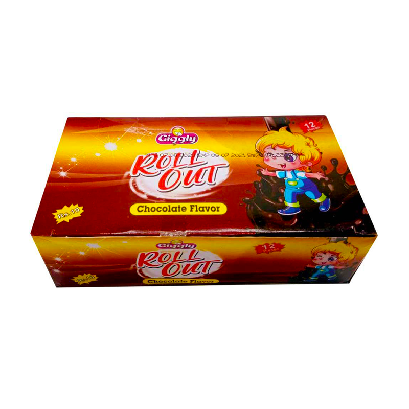 Giggly Roll Out Chocolate Flavour 12 Pieces