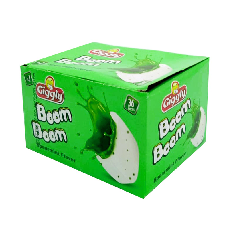 Giggly Boom Boom Spearmint Flavor 36 Pcs