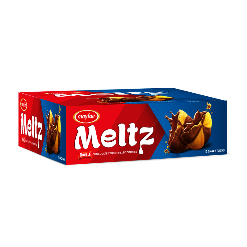 Mayfair Meltz Double Chocolate Center Filled Cookies 12 Snack Packs
