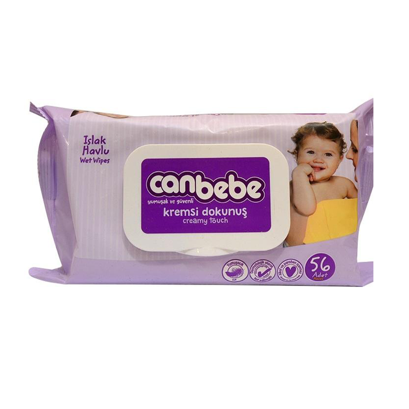 Canbebe Creamy Touch Soft Baby Wipes, 56-Pieces