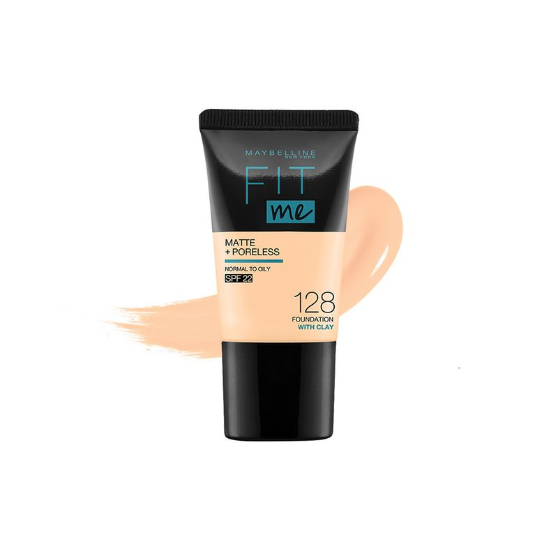 Maybelline New York Fit Me Matte & Poreless Liquid Foundation Mini Tube 18ml - 128 Warm Nude - For Normal to Oily Skin