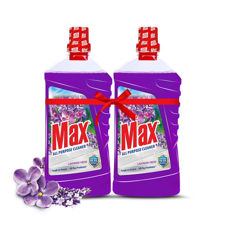 Max All Purpose Cleaner Lavender Fresh 1ltr x 2 Pack