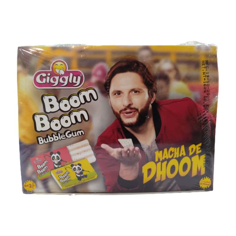 Giggly Boom Boom Bubble Gum 72 Pieces 363gm