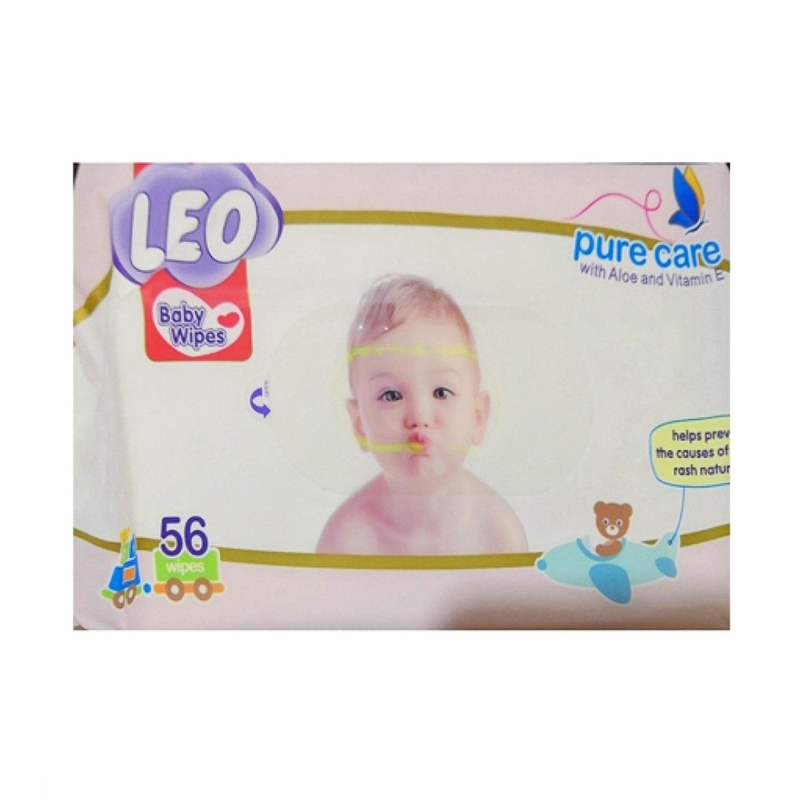 Leo Baby Wipes Pure Care 56 Wipes