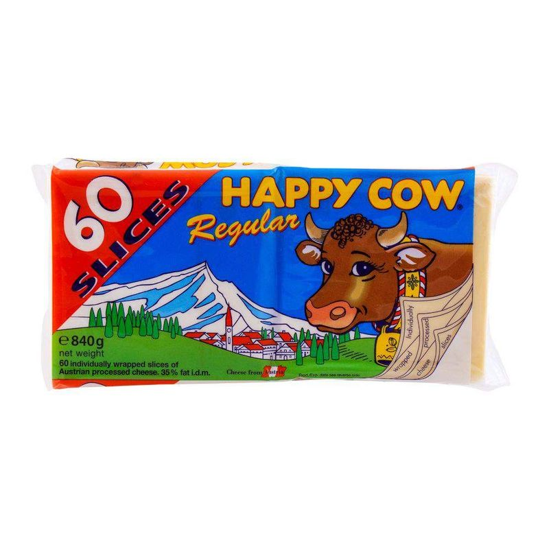 Happy Cow Regular Cheese 60 Slices 840gm