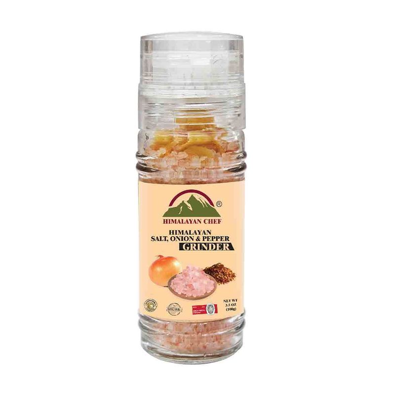 Pink Salt + Onion & Red Pepper with Grinder 100gm