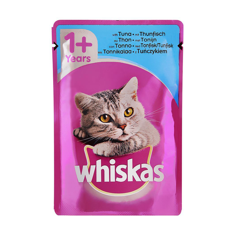 Whiskas Tuna In Jelly Cat Food, 1+ Years 100gm