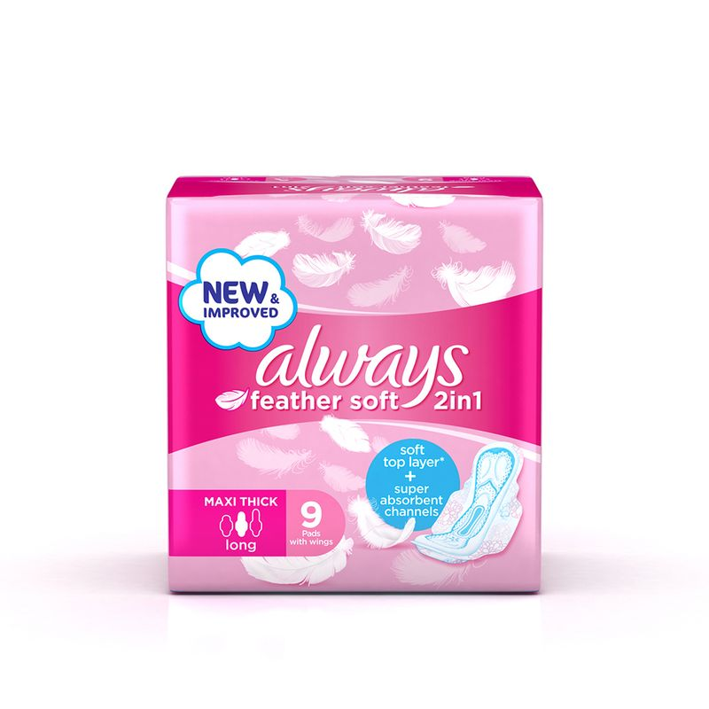 Always Feather Soft 2 in 1 Maxi Thick Long 8 Pads