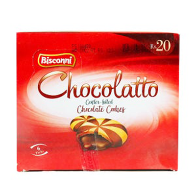 Bisconni Chocolatto Center-filled Chocolate Cookies 6 Packs