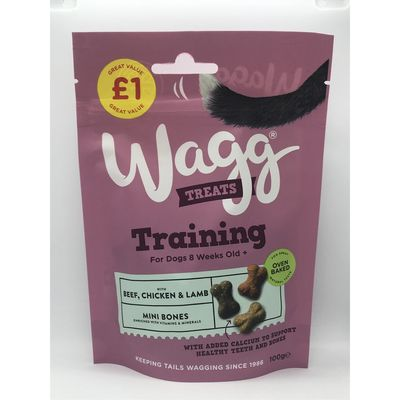 Wagg Treats Training For Dogs With Beef, Chicken & Lamb 100gm