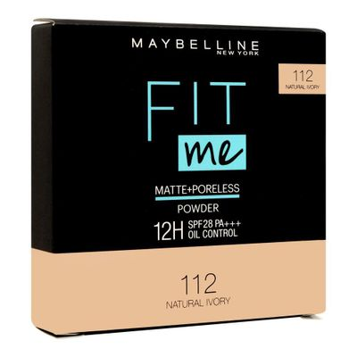 Maybelline New York Fit Me Matte & Poreless Compact Powder - 112 Natural Ivory