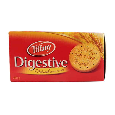 Tiffany Digestive Natural Wheat Biscuit 250gm