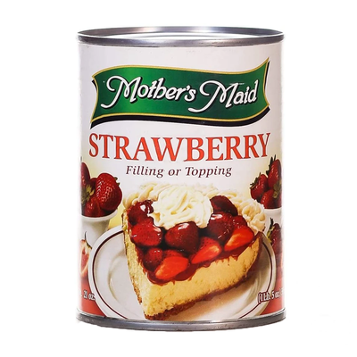 Mother's Maid Strawberry Filling or Topping 595gm
