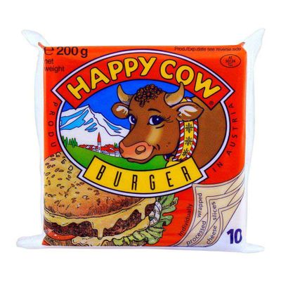 Happy Cow Burger Cheese 10 Slices 200gm