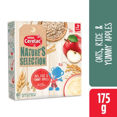 Nestle Cerelac Nature's Oats, Rice & Yummy Apples 175gm