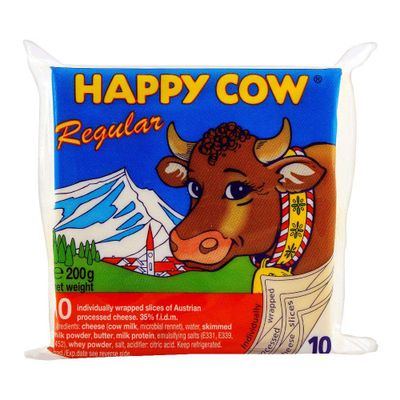 Happy Cow Regular Cheese (10 Slices) 200gm