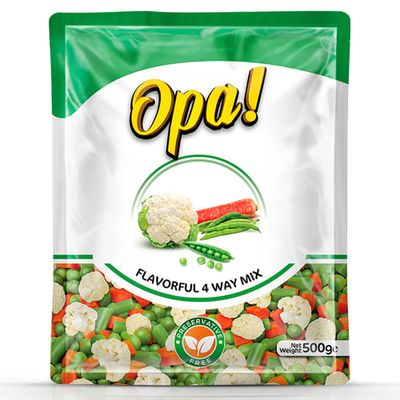Opa Flavorful 4 Way Mixed Vegetables 500gm