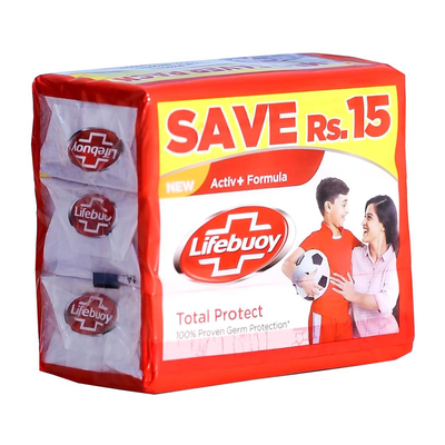 Lifebuoy Soap Total Protect Pack of 3