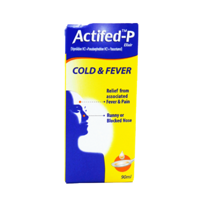 Actifed-P Cold & Fever Syrup 90ml