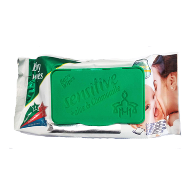 Sensitive Baby Wipes With Aloe & Chamomile 160 Wipes