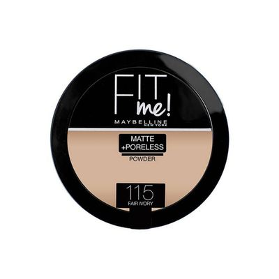 Maybelline New York Fit Me Matte & Poreless Compact Powder - 115 Ivory