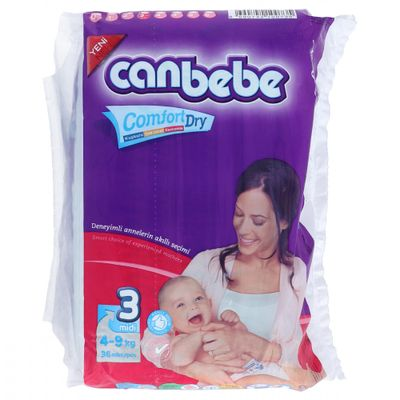 Canbebe Diapers Size 3 (36 pcs)