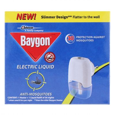 Baygon Electric Liquid Anti Mosquitoes Machine And Refill 1pc
