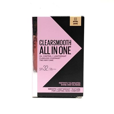 Maybelline New York Clear Smooth all in one Powder Foundation - 02 Natural Beige