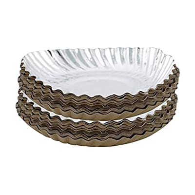 Paper Plates Silver Small (50 Plates)