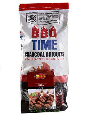 Italiano BBQ Time Charcoal Briquets With Fried Onion 2kg