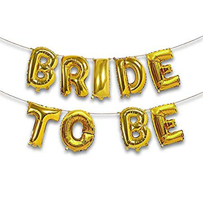 Bride To Be Foil Balloon Letters Gold