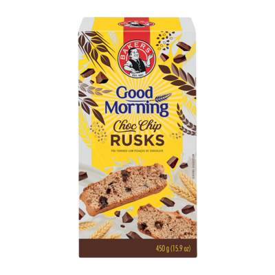 Bakers Good morning Choc Chip Rusks 450Gm