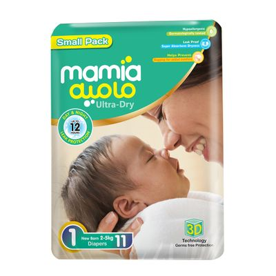 Mamia New Born Diapers - S.Pack - Pcs 11/ Size 1
