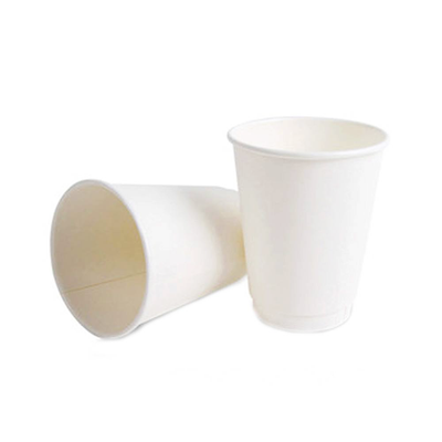 Disposable White Paper Glass 50pcs Pack