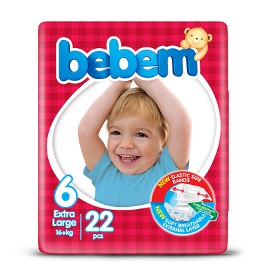 Bebem Diapers Twin Pack Extra Large (22 Pcs)