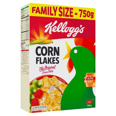 Kellogg's Corn Flakes Toasted Golden Cereals Bag 750gm