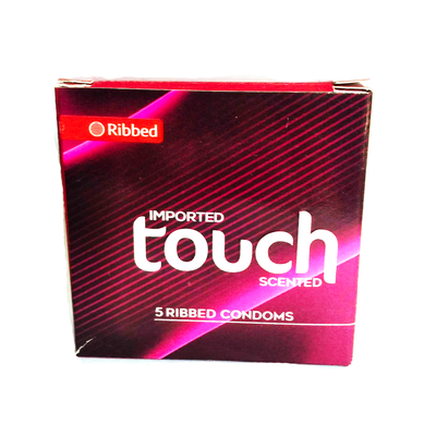 Imported Touch 5 Ribbed Condoms