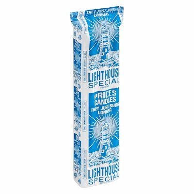 Light House Special 6 Fluted White Candles