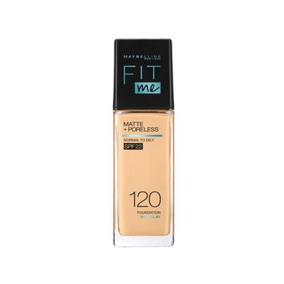 Maybelline NY New Fit Me Matte + Poreless Liquid Foundation SPF 22 - 120 Ivory 30ml - For Normal to Oily Skin