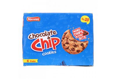 Bisconni Chocolate Chip Cookies 6 Packs